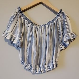 Ocean Drive Summer or Spring Striped Crop Top